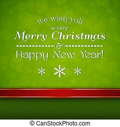 חג המולד שמח, כרטיס