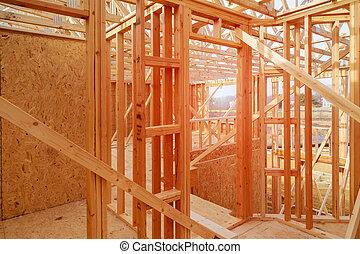 חדש, פרוורי, בתים, currently, מתחת לבניה, ב, שיט
