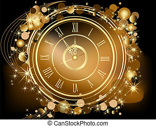 חדש, שמח, זהב, רקע, שנה