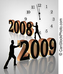 חדש, 2009, שנה, שעון