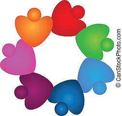 חומים, בהיר, שיתוף פעולה, לוגו, צבעים