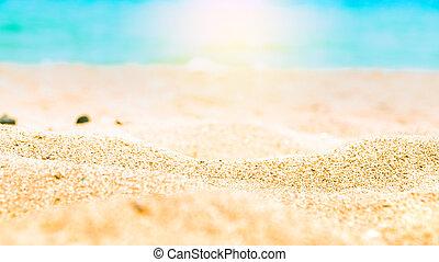 חוף של חול, קיץ, רקע