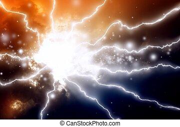 חושך, ברקים, שמיים