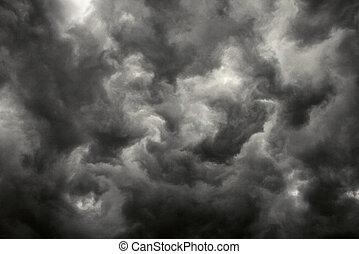 חושך, הבקע, clouds.
