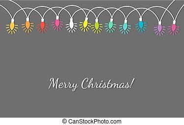 חזק, צבעים, חג המולד, שלשל, אורות
