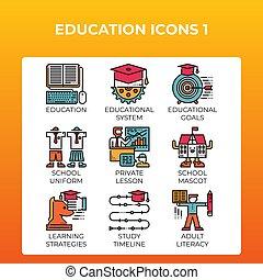 חינוך, איקונים של מושג