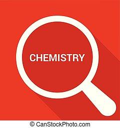 חינוך, כוס, אופטי, מילים, כימיה, להגדיל, concept: