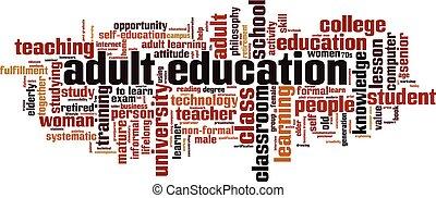 חינוך, מילה, מבוגר, ענן