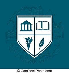 חינוך של אוניברסיטה, סמל, איקון