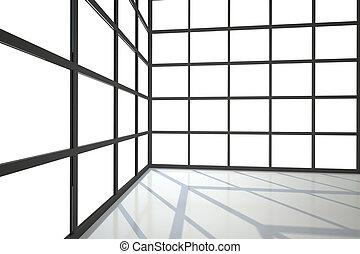 חלונות, חדר, הרבה