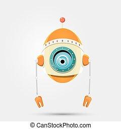 חמוד, אופי, ציור היתולי, רובוט