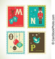 חמוד, אלפבית, ראטרו, חג המולד, איקונים