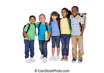 חמוד, לחייך, מצלמה, ילדי בית-הספר