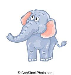 חמוד, ציור היתולי, elephant.