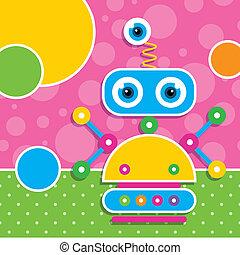 חמוד, רובוט, כרטיס של דש