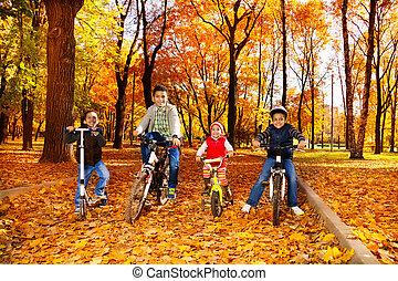 חנה, אופניים, קבץ, בחורים, ילדות