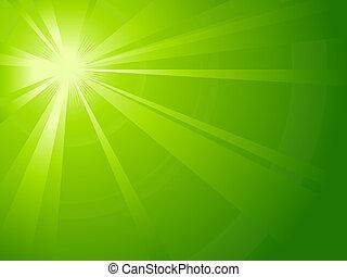 חסר סימטריה, ירוק קל, התפוצץ