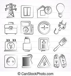 חשמל, אנרגיה, הנע, איקונים