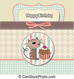 חתול, כרטיס של יום ההולדת, דש