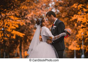 חתונה, נשואים חדשים, משפחה, צעיר