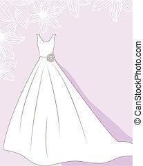 חתונה, רקע, עם, התלבש