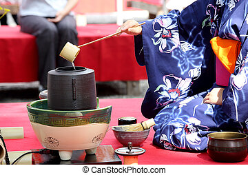 טקס של תה יפני