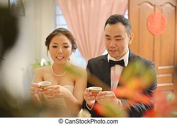 טקס, תה, סיני, חתונה