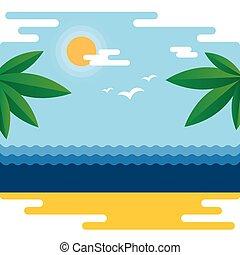 טרופי, קיץ, דגל