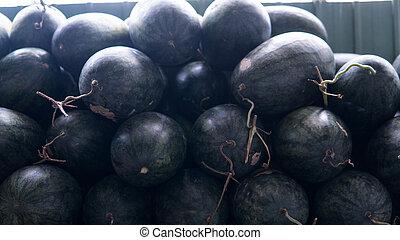 טרופי, market., פרי, אסייתי, פירות