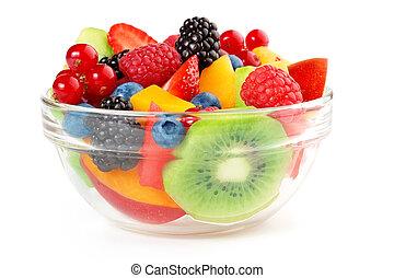 טרי, ו, בריא, סלט של פרי
