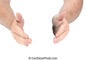 ידיים, הפרד, לבן