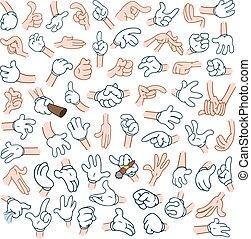 ידיים, 2, ציור היתולי, ארוז