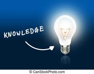 ידע, נורת חשמל, מנורה, אנרגיה, כחול קל