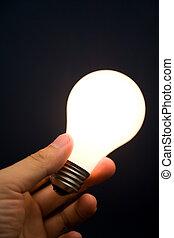 יד מחזיקה, a, אור מואר, נורת חשמל