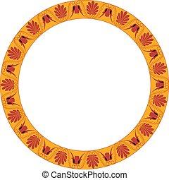 יווני, הסגר, ornament., סיבוב, palmetta