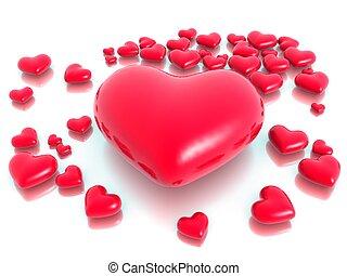 יום, אהוב, ולנטיין, לבבות, מושג