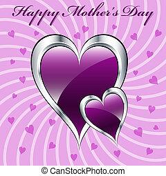 יום האם, סגול, לבבות