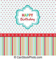 יום הולדת, כרטיס של דש, שמח