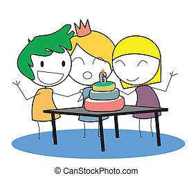 יום הולדת, צחק