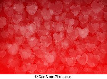 יום של ולנטיין, אדום, לבבות, רקע