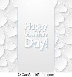 יום של ולנטיינים, דש, card., וקטור, illustration.