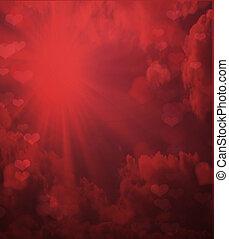 יום של ולנטיינים, רקע אדום