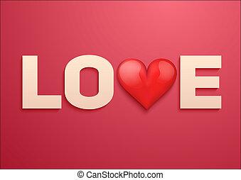 יום של ולנטיינים, רקע, עם, אהוב, ו, לב