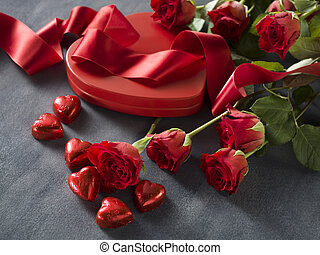 יום של חתונה, ו, יום של ולנטיינים, רקע, עם, ורדים