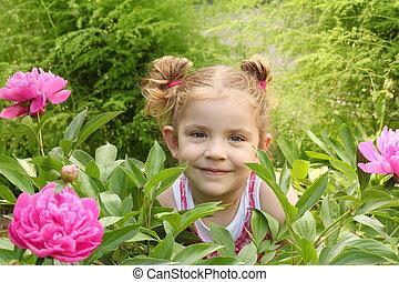 ילדה קטנה, גן