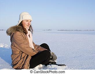 ילדה של נער, השלג, לשבת