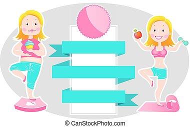 ילדה, (before, אחרי, רזה, שומן