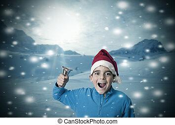 ילדים, השלג, חג המולד