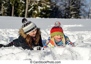 ילדים, השלג, שני