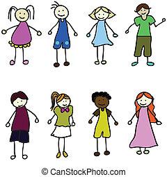 ילדים, ציור היתולי